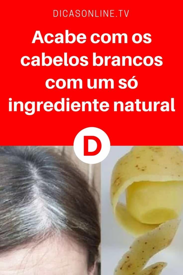 Agua De Batata Para Escurecer O Cabelo como eliminar os cabelos brancos usando casca de batata