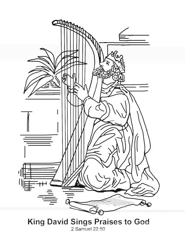 King David Worshiping God Coloring Pages Google Search David