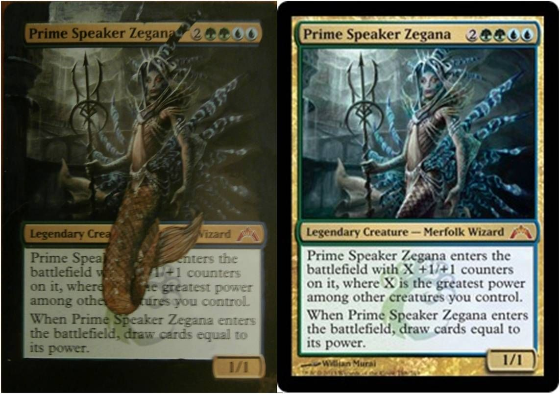 Prime Speaker Zegana, altered by BearHands Art  Magic the