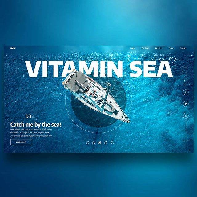 "ESKOR Werbeagentur on Instagram: ""Vitamin Sea ⛵🌊 - this beautiful blue 🤩#screendesign#webdesign#vitaminsea…"""
