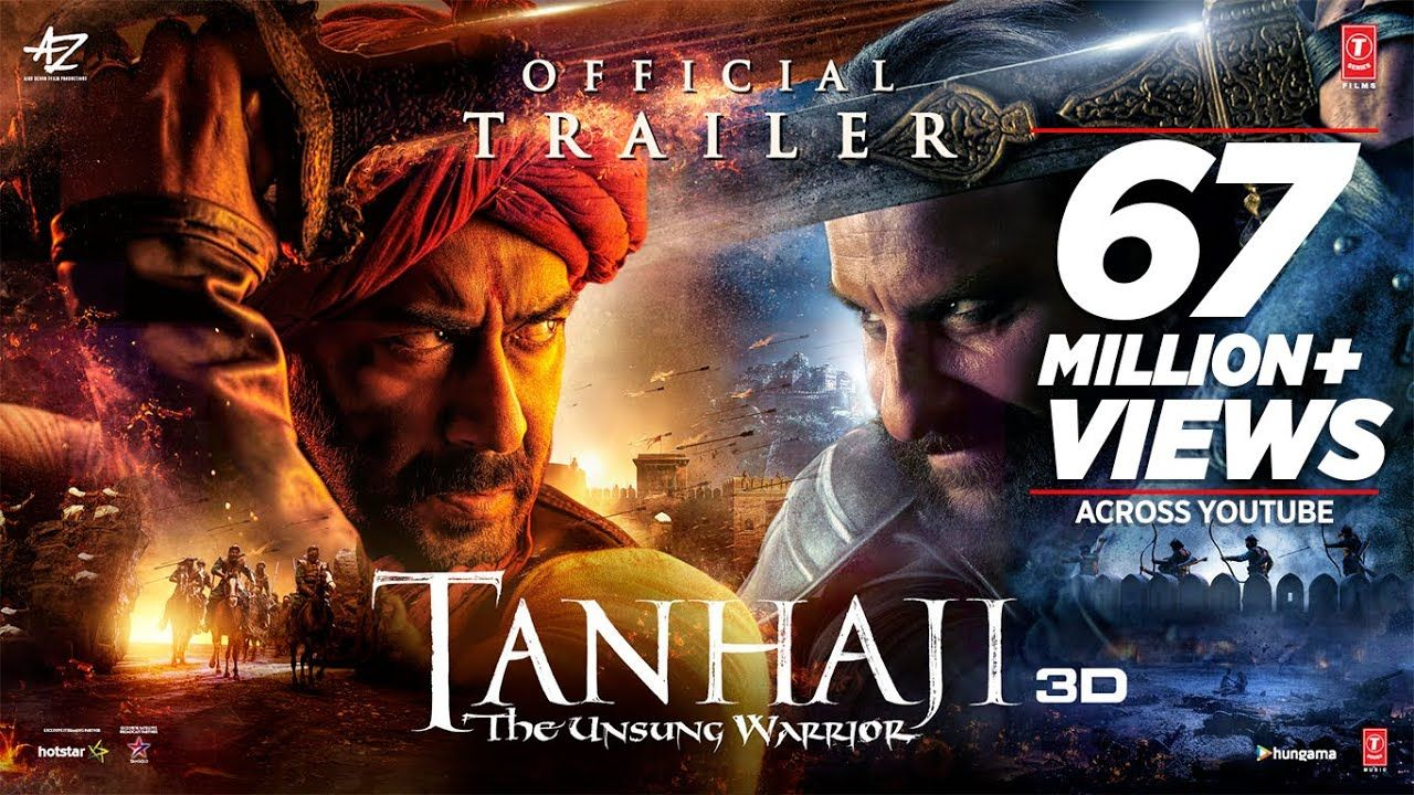 Tanhaji The Unsung Warrior Official Trailer Ajay D