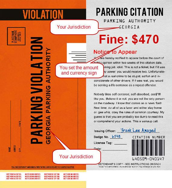Pdf Fake Parking Ticket What A Great Way By Gombitaenterprises