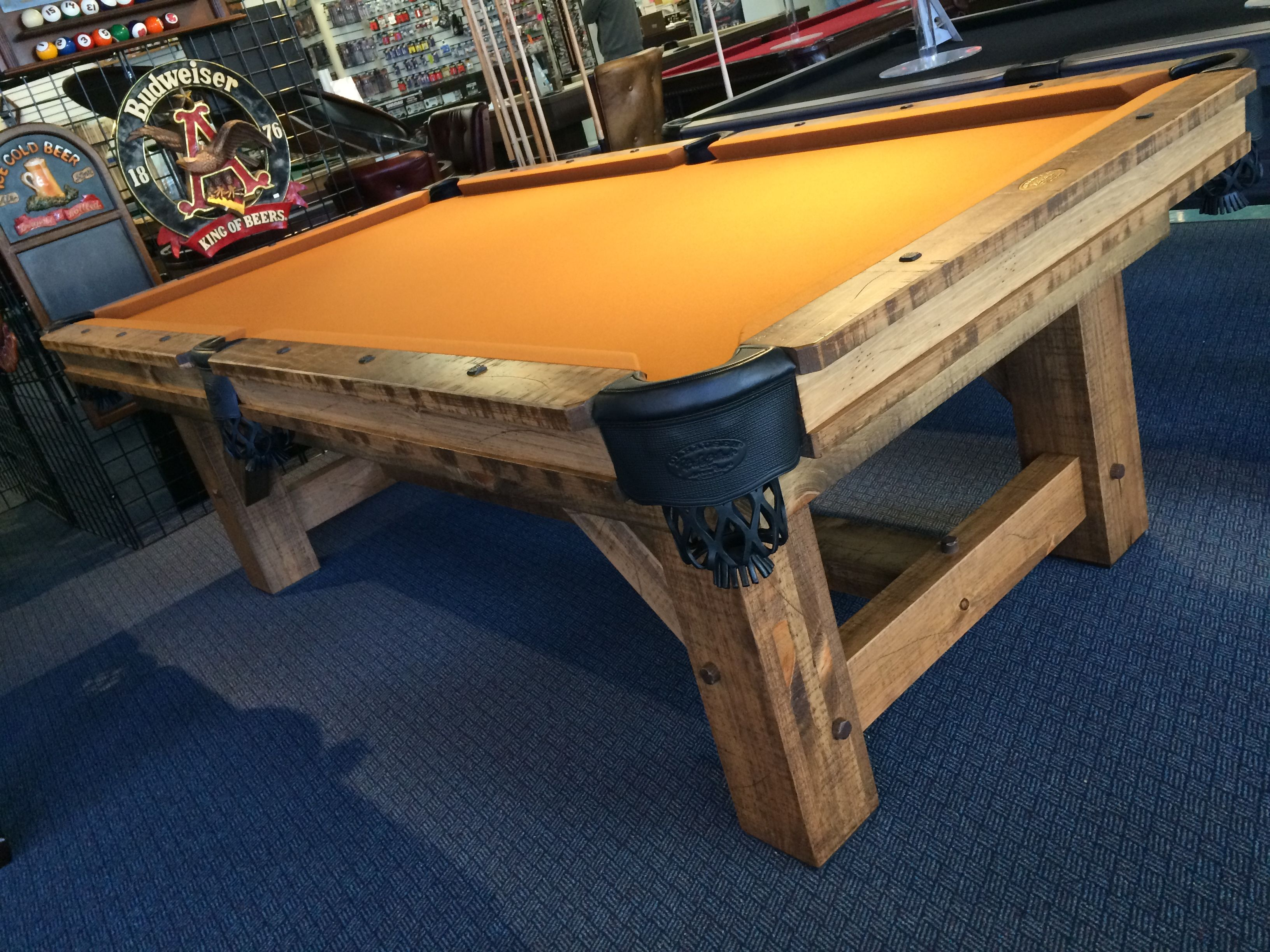We Are Thrilled To Have The New Olhausen Timber Ridge Pool Table On Display  In Our Raleigh, NC Showroom. It Blends Rustic And Modern Details For An  Very ...