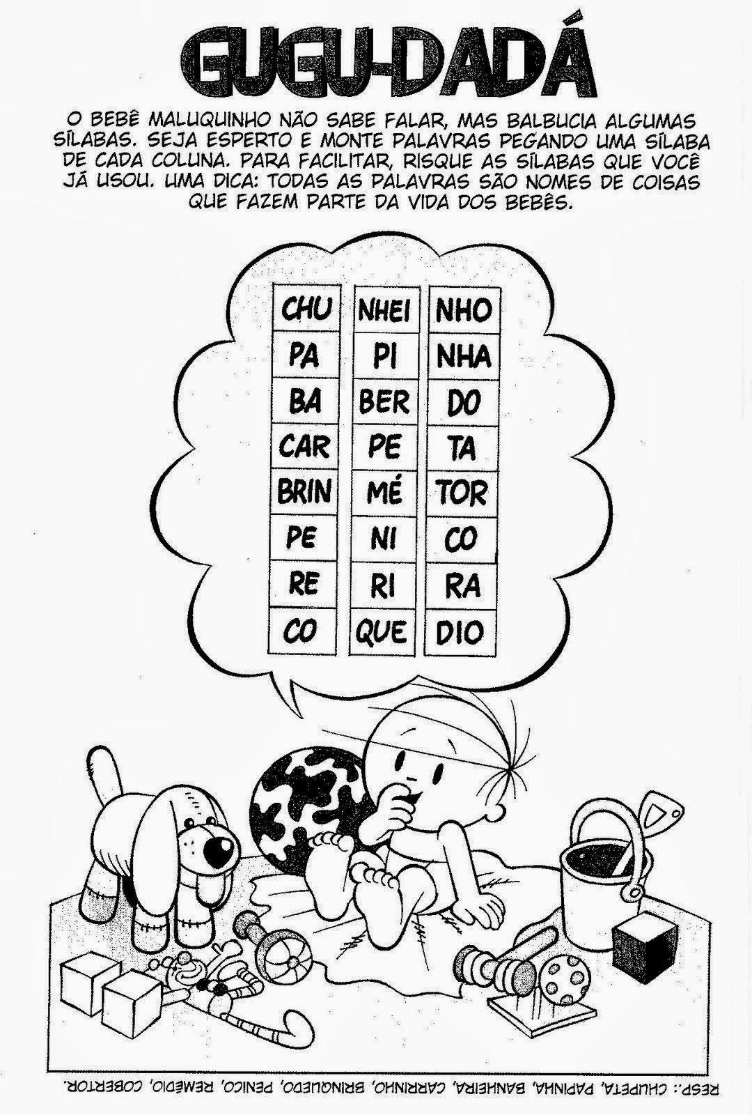 Companheiros da Educação: MENINO MALUQUINHO - DIVERSAS ATIVIDADES DE ...