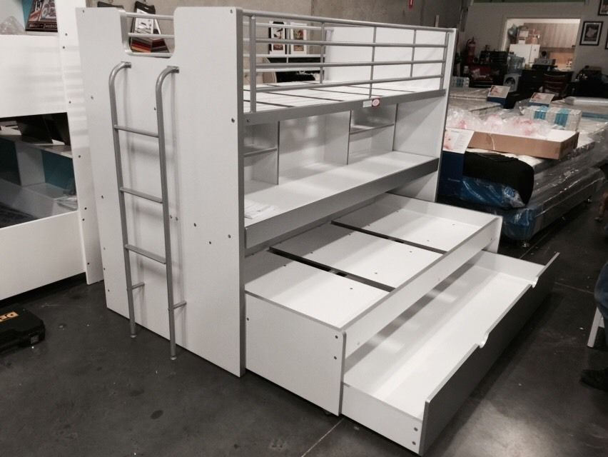 Bunk Bed Single With Trundle And Desk Storage New In Box Boys Room Desk Storage Bunk Beds Bed