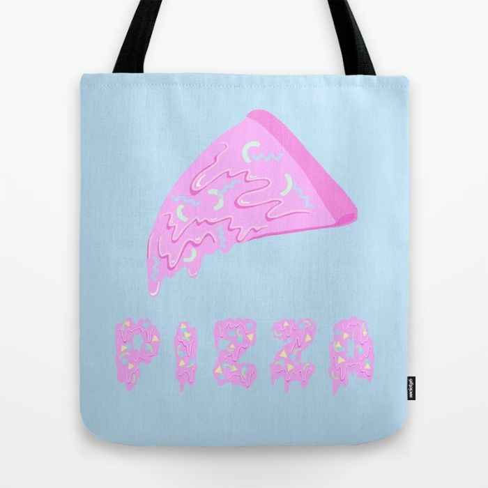Pink Pizza Tote Bag
