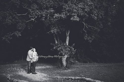 magical couples maternity session