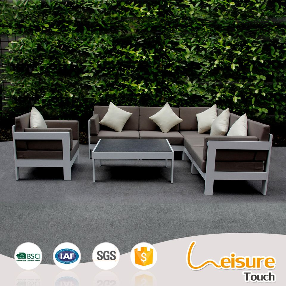 Time to source smarter!  Outdoor sectional sofa, Aluminum