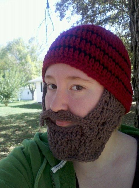 4 Name Crocheting Beard Beanie All Things Knotted Pinterest