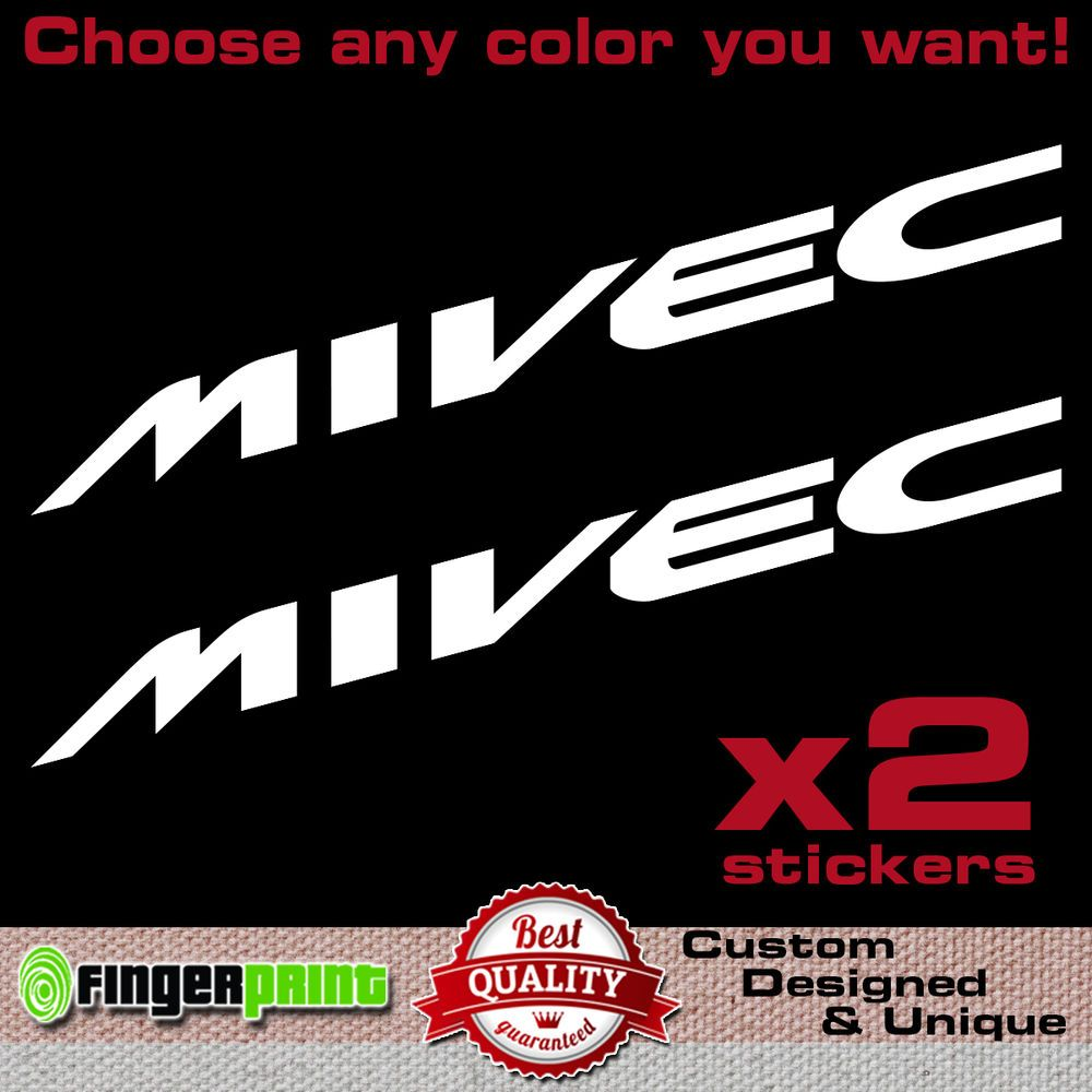 Details About MIVEC Decal Sticker Vinyl Mitsubishi Ralliart Colt - Colts custom vinyl decals for car