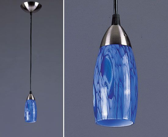 Pendant Lighting Intense Cobalt Blue Blue Pendant Light Tech