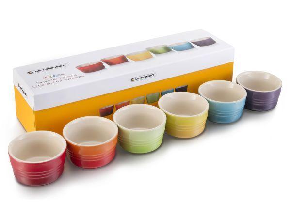 Le Creuset Rainbow Collection Mini Ramekins Set Of 6 Rainbow