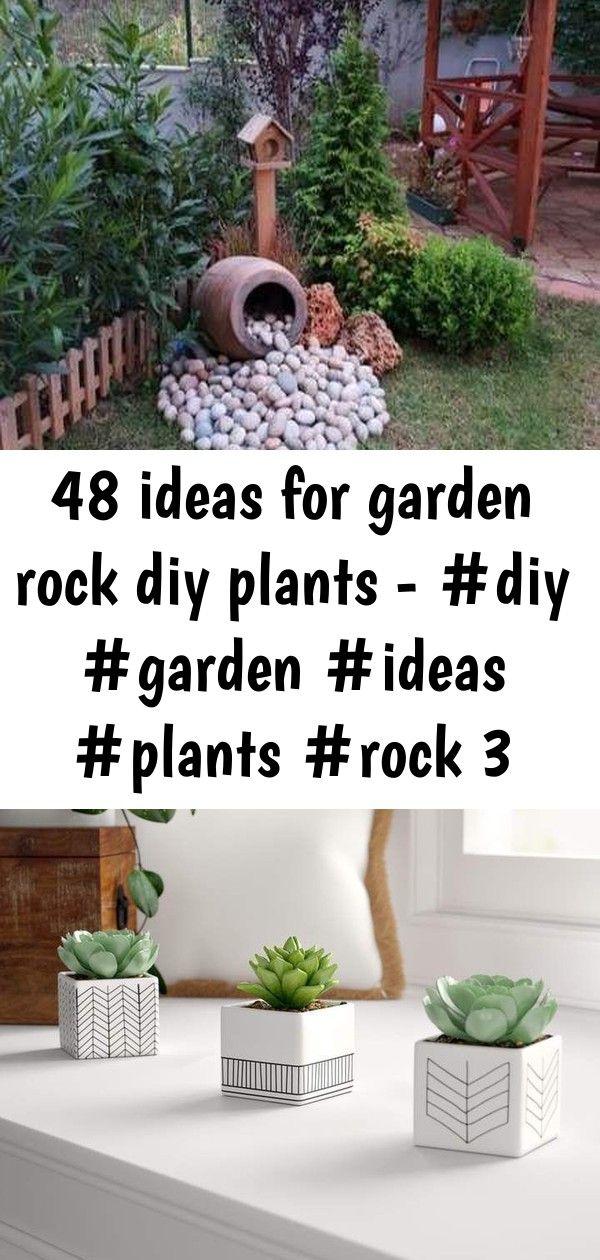 48 ideas for garden rock diy plants  3 48 Ideas For Garden Rock Diy Plants  Mistana 3 Piece Ceramic Succulent Desktop Plant in Pot Set melissehome on instagram  Home  Gar...