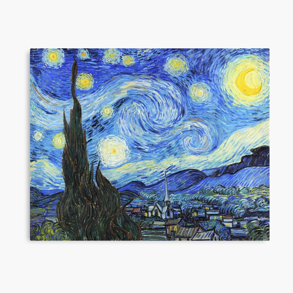 Vincent Van Gogh Starry Night Oil On Canvas Post Impressionist Saint Remy De Provence Canvas Mounted Print By Maximusart Starry Night Van Gogh Starry Night Art Starry Night Painting