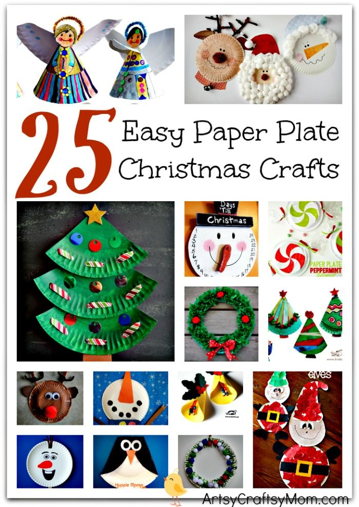 25 Easy Paper Plate Christmas Crafts for kids Santa claus elves