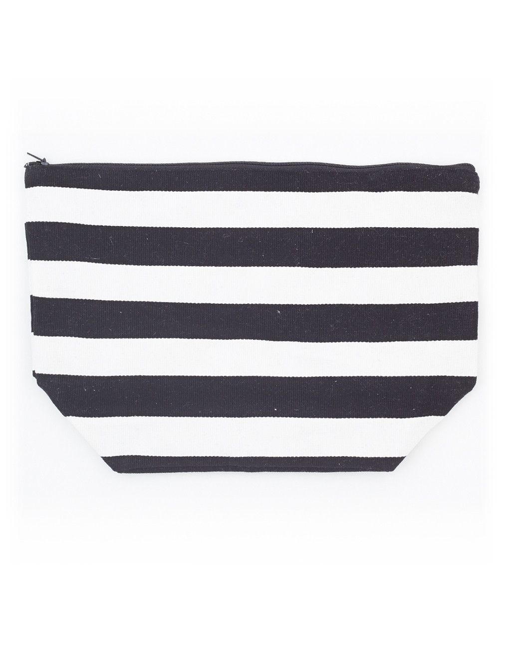 Medium Candy Stripe Bag Black