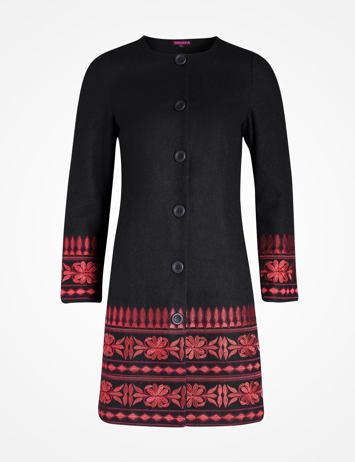 d024825a SORAYA jacka mörkröd | Jacket | Outerwear | Ytterplagg | Mode | INDISKA  Shop Online