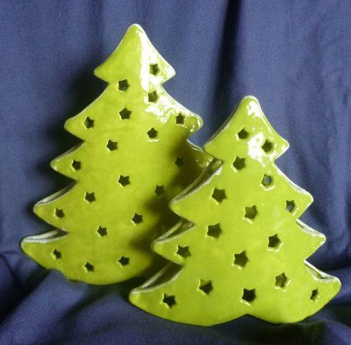 windlichter weihnachtsb ume f r teelichter ein. Black Bedroom Furniture Sets. Home Design Ideas