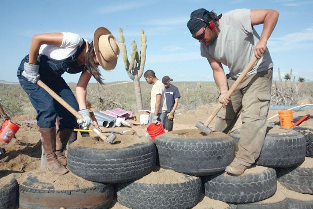 Earthship Construction Materials : House fire kindles desire for recycled eco friendly home