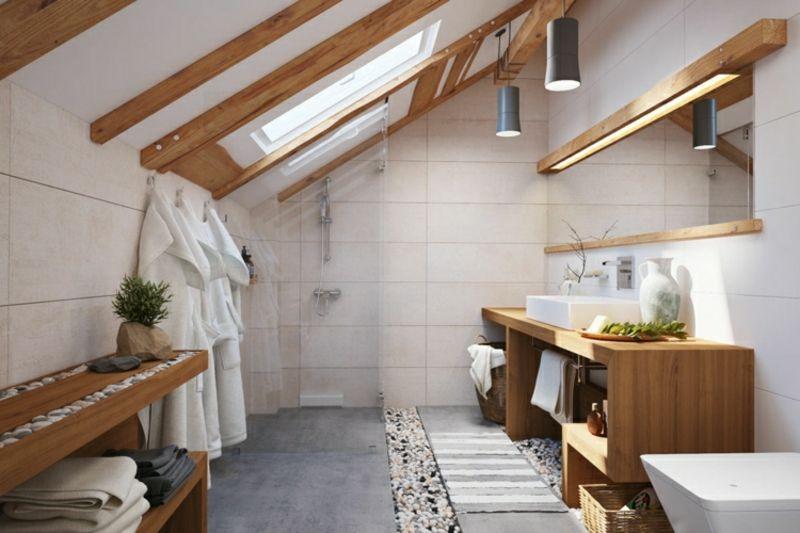 Moderne Badezimmergestaltung moderne badezimmer 40 luxuriöse einrichtungsideen attic bathroom