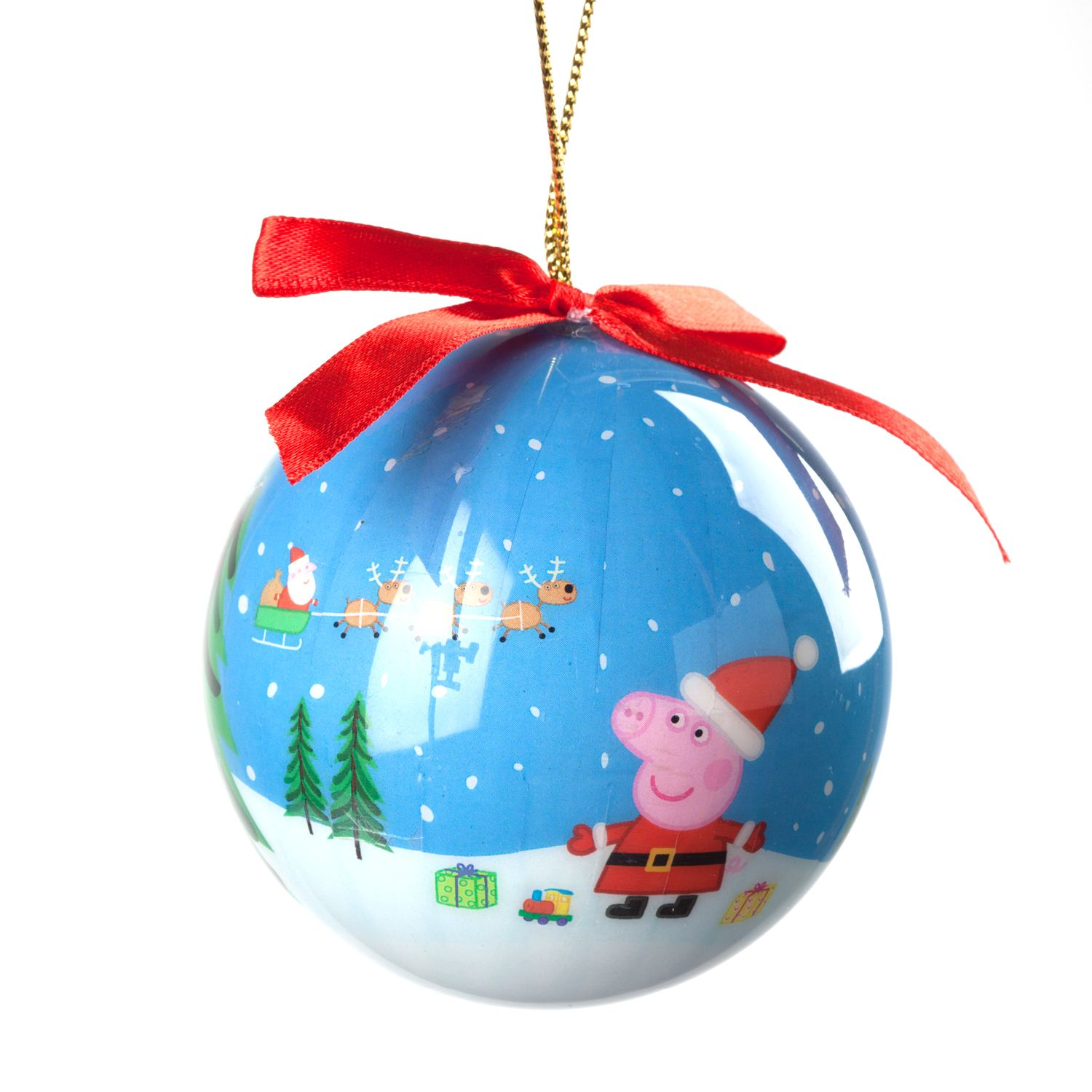 This Sweet Ornament Features Peppa Dressed As Santa Claus In