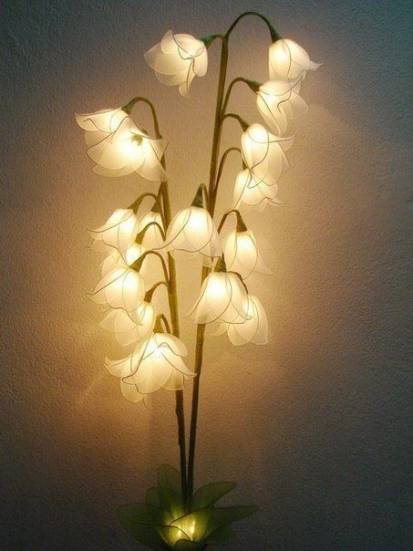Attractive Unique And Beauty Flower Lamps For Your Home | Make Handmade, Crochet, Craft