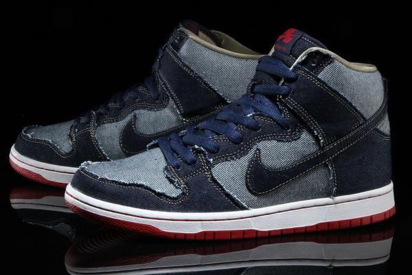 finest selection e51fe 64af4 Overview Nike SB Dunk High TRD QS (Reese Forbes) Style     881758-441 Color    Midnight Navy Materials   Denim Upper - EVA Midsole - Rubber Outsole  Sizing ...