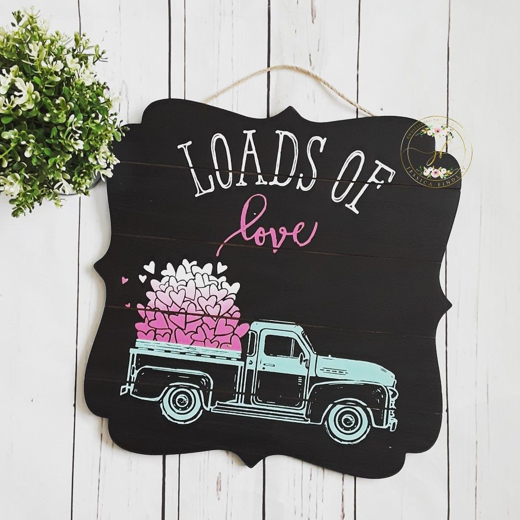 Download Vintage truck valentines decor sign using chalk couture ...
