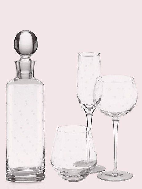30c9c19e243 Kate Spade Larabee Dot Flutes Set, Crystal in 2019 | Products ...