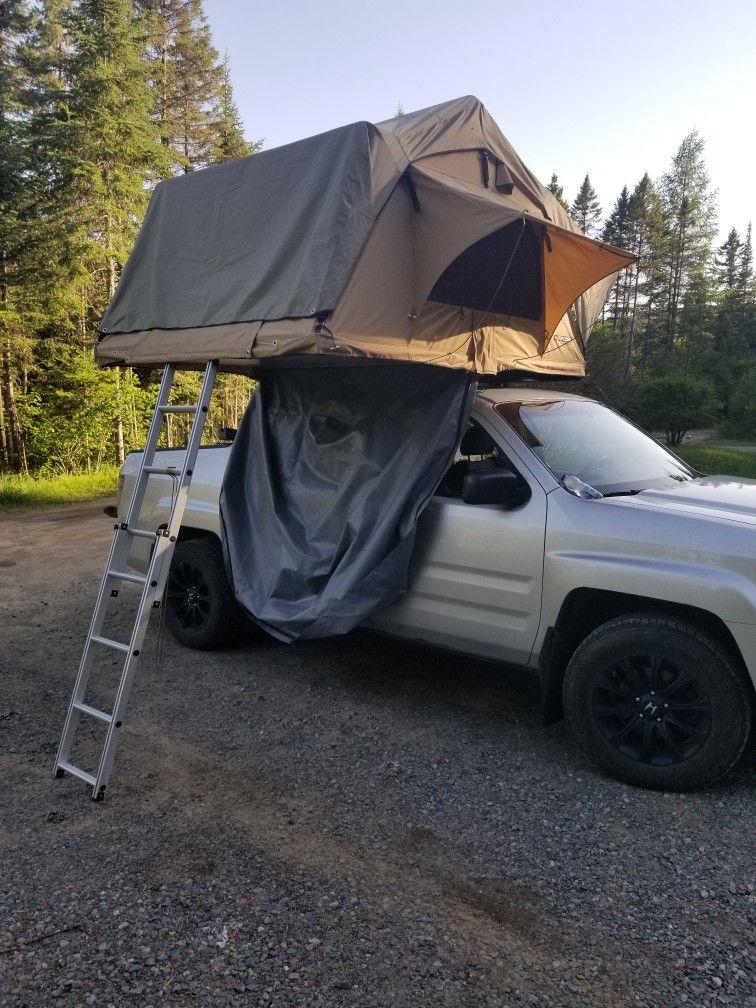 Roof Top Tent On A Honda Ridgeline Honda Ridgeline Offroad Trucks Honda