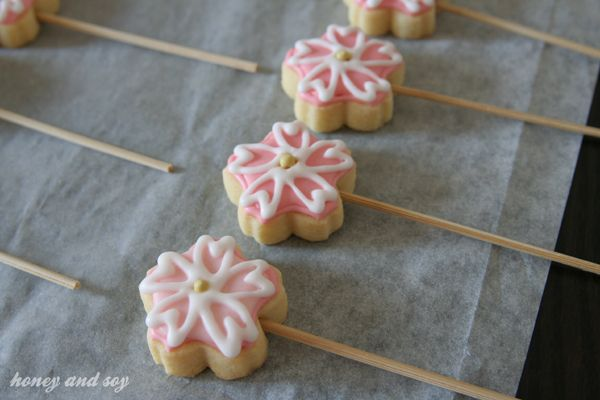 Cherry Blossom Party Ideas | Cherry blossom cookies for Spring! | honeyandsoy food adventures