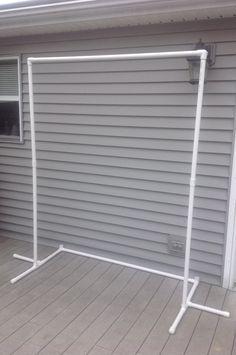 Tel n de fondo marco de photobooth diy estructura de for Bases para colgar cortinas