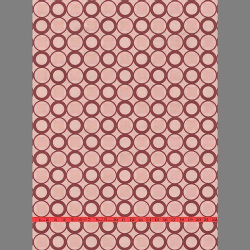 Pink Circle Geometric velvet flocked wallcovering: RLL2A  designyourwall.com