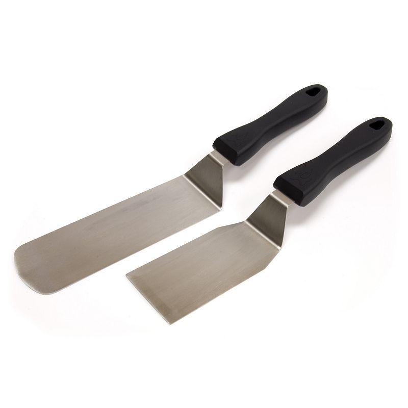 2pc Stainless Steel BBQ Spatulas Grill Tools Outdoor Cooking Camping Utensils