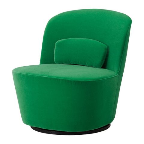 Stockholm swivel easy chair sandbacka green ikea room for more ikea armchair ikea - Ikea chaise stockholm ...