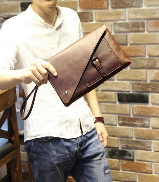 Tas Clutch Handbag Pria Trendy Import