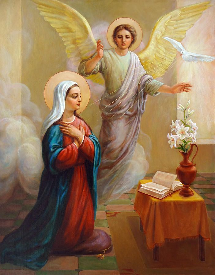 Annunciation Painting - Annunciation To The Blessed Virgin ...