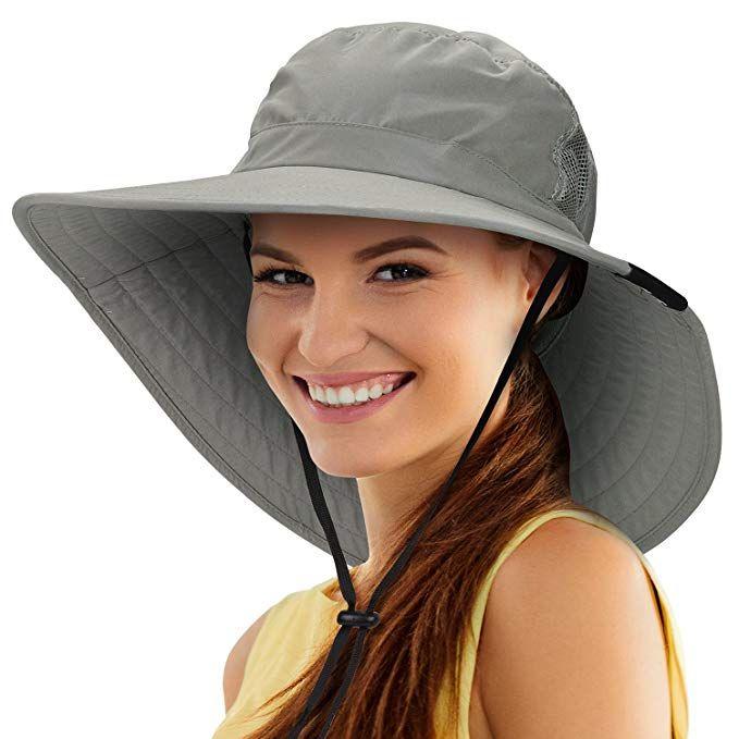 e8082731737 Tirrinia Unisex Sun Hat Fishing Boonie Cap Wide Brim Safari Hat with  Adjustable Drawstring for Women