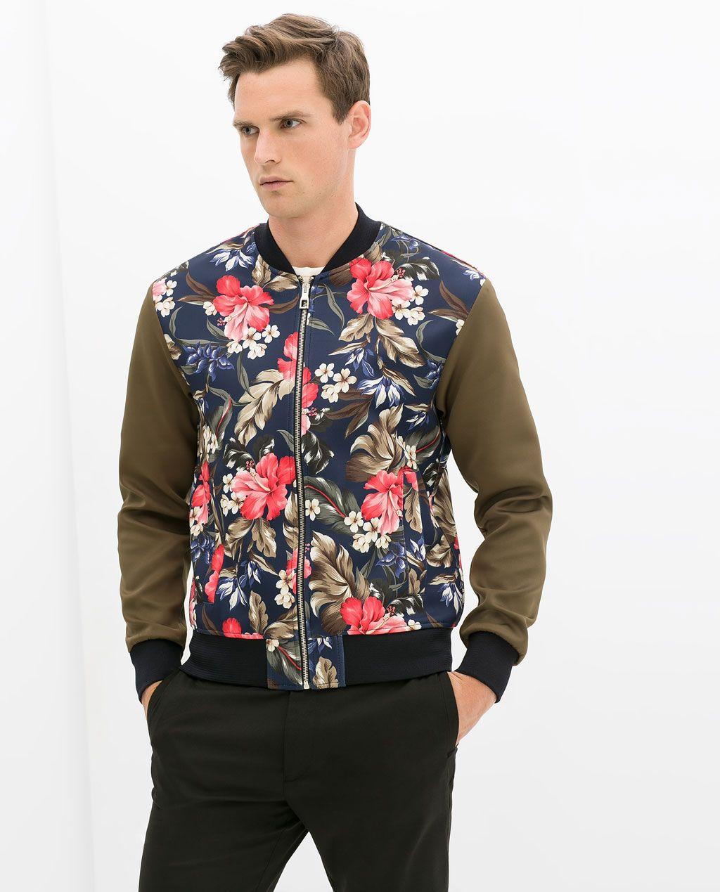 Imagen 3 de cazadora flores de zara fashion pinterest for Zara mens shirts sale