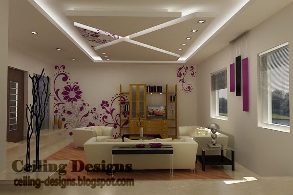 Cool Fall Ceiling Designs For Living Room From Gypsum With Hidden Lights Jpg 600 400 Pixels Ceiling Design Pop False Ceiling Design False Ceiling Design
