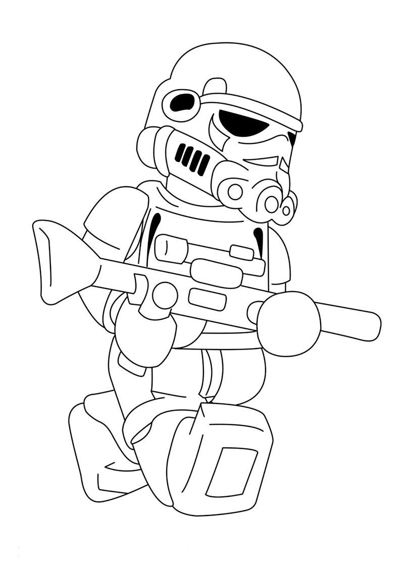 Lego Storm Trooper Star Wars Coloring Pages. Also see the ...