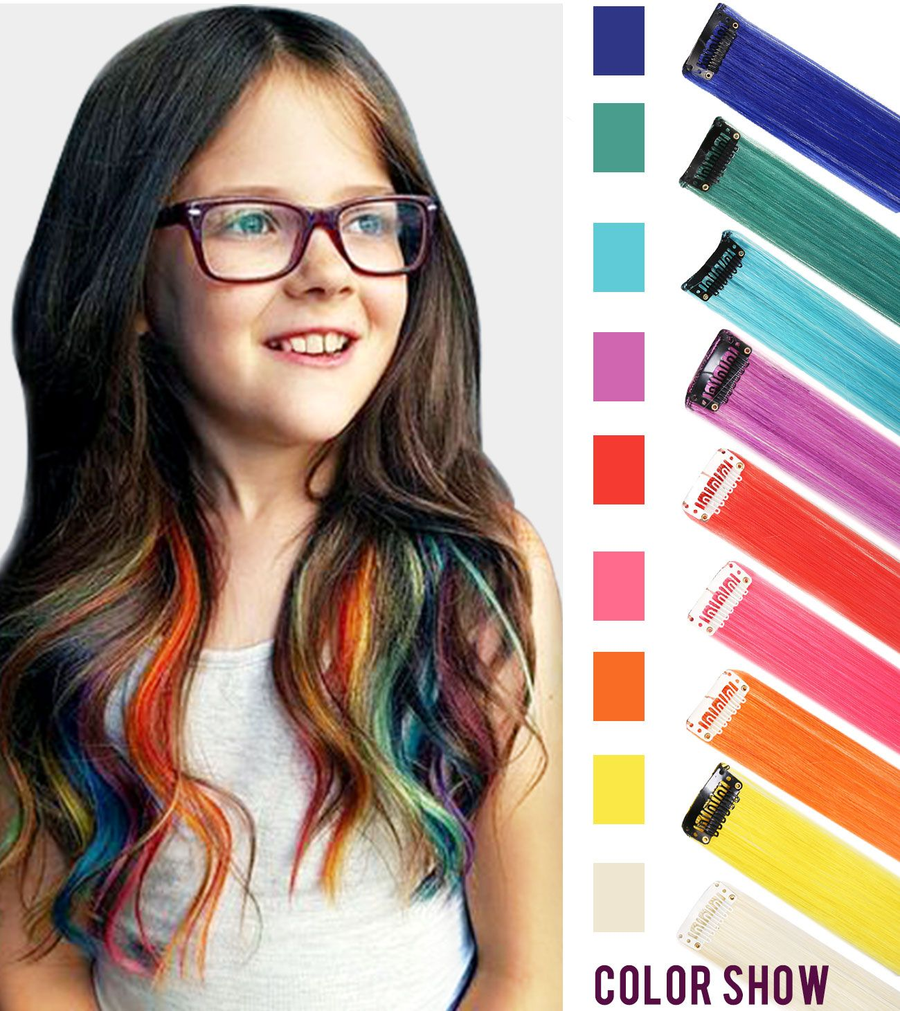 Rain Bow Color Wig Piece for american girls and dolls