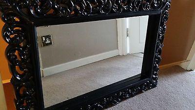 Black Chunky Rococo High Gloss Wall Mirror | eBay