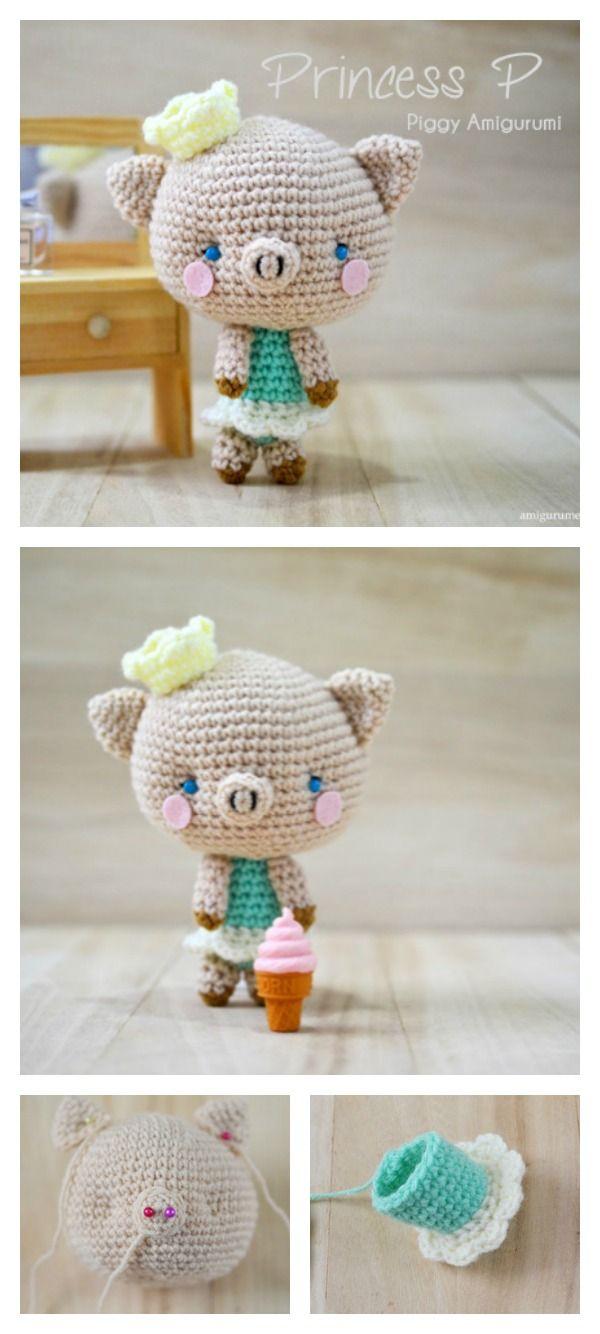 Crochet Amigurumi Pig Free Patterns   Amigurumi   Pinterest   Croché ...