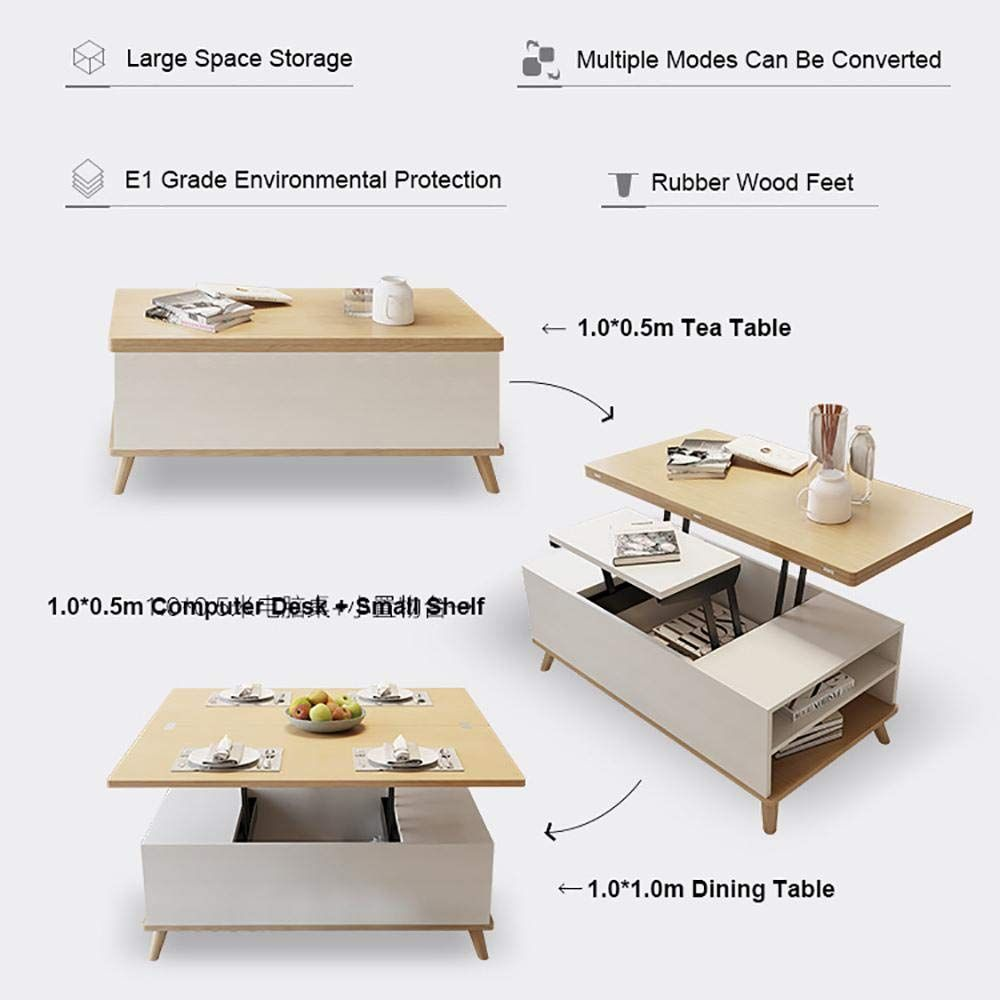 Amazon Com Bopp Convertible Coffee Table To Dining Table 3 In 1 Lift Top Table Multifunction Lift Up Coffee Table Not Easily Deformed Coffee Table And Dining [ jpg ]