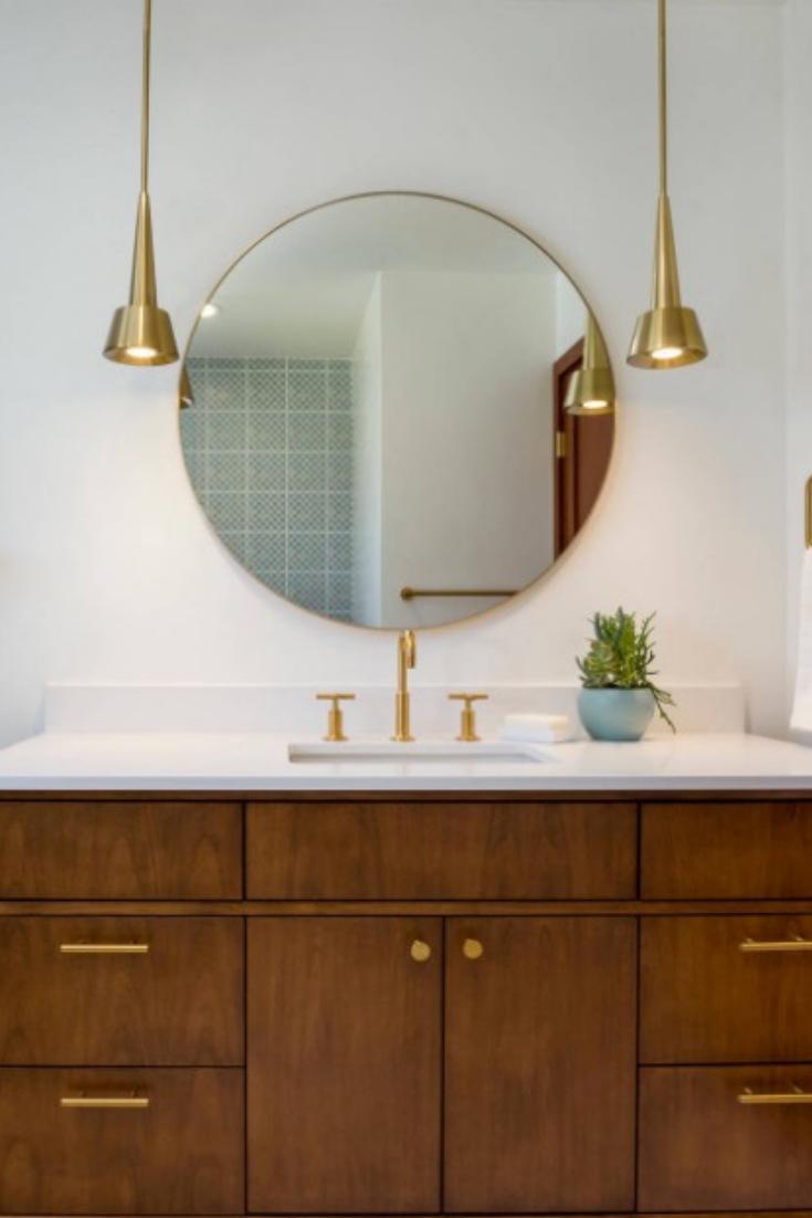 Lighten Up Let These 16 Fresh Pendant Light Ideas To Inspire You Pendant Lighting Lounge Round Mirror Bathroom Bathroom Mirror Lights
