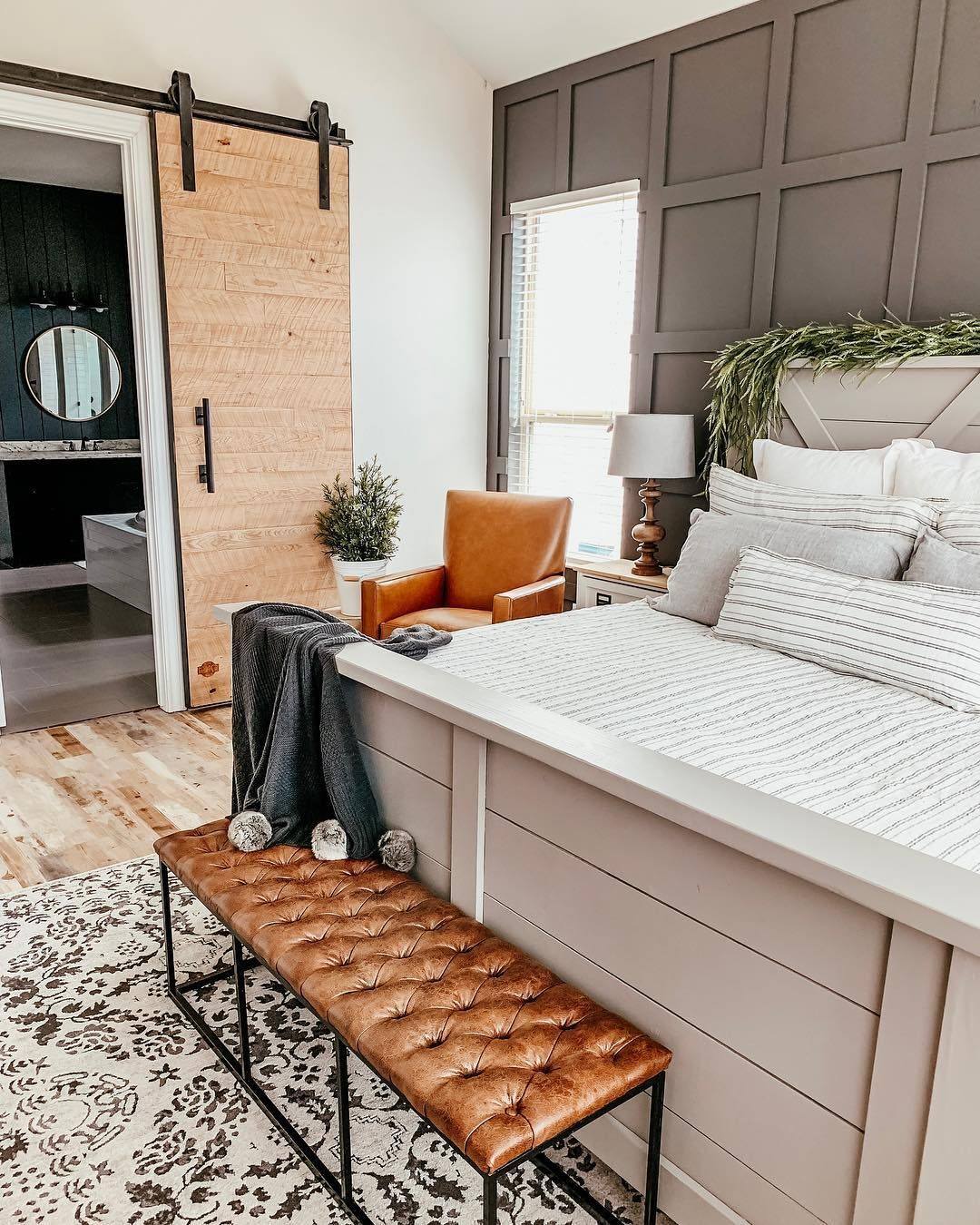 "50 Cozy Farmhouse Master Bedroom Remodel Ideas: Ourfauxfarmhouse On Instagram: ""modern"