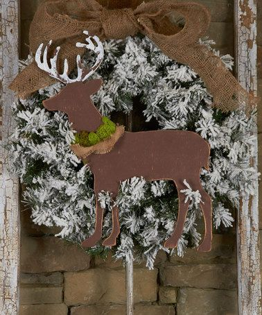 Look at this #zulilyfind! Unfinished Forward-Facing Deer Décor #zulilyfinds