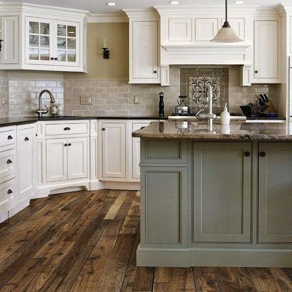 Mismatched Kitchen Cabinets: #DesignInspiration With An Island Bringing In A Different