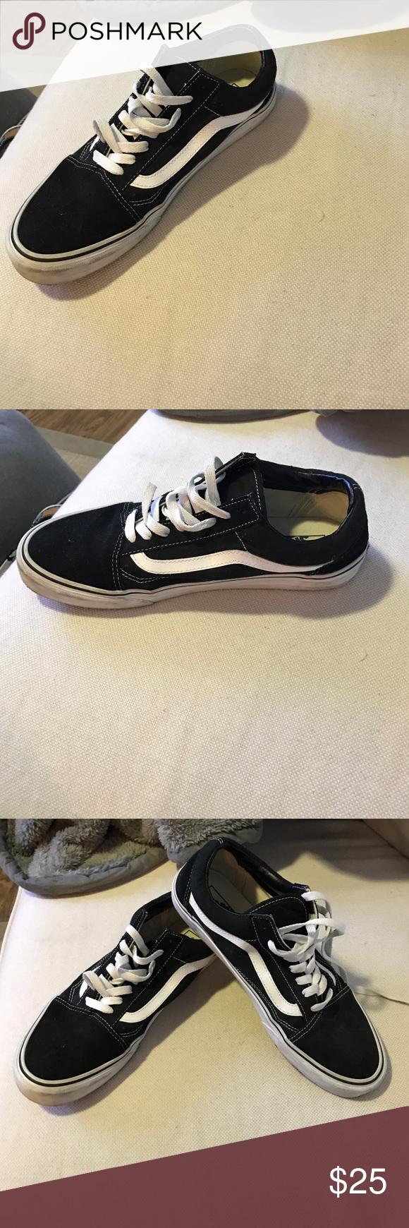 Vans old school sneakers Black and white old school shoes Vans Shoes Sneakers